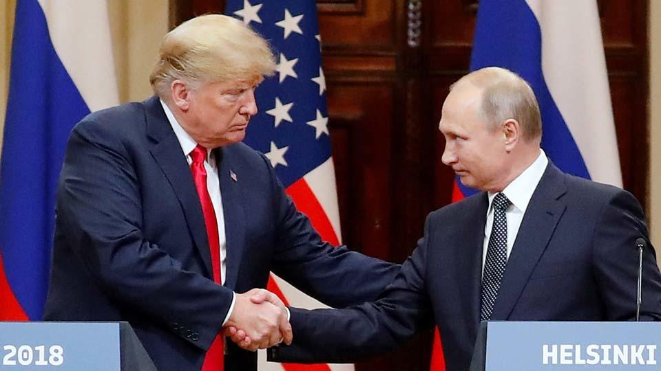 Donald Trump y Vladimir Putin en la cumbre de Helsinki