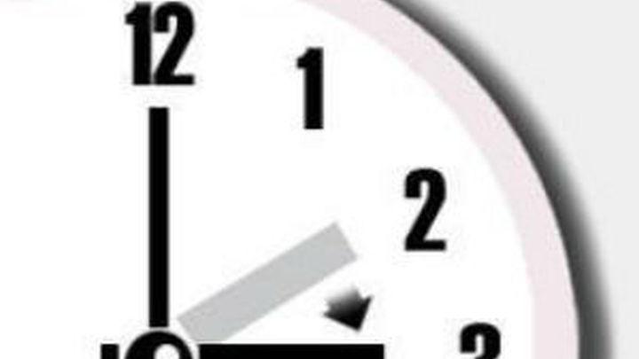 A las 3h. serán las 2h. en la madrugada del sábado al domingo