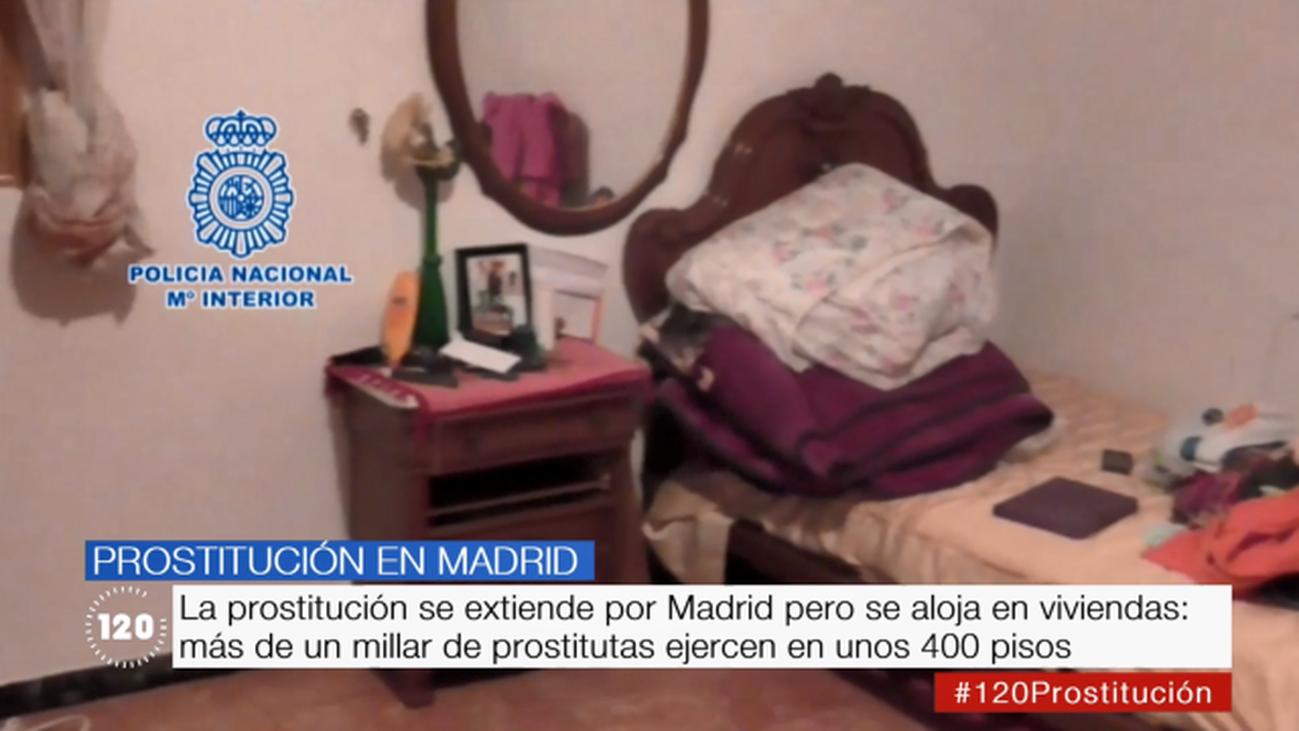 La prostitución en Madrid: más de un millar de prostitutas ejercen en unos 400 pisos
