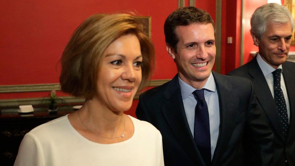 María Dolores de Cospedal y Pablo Casado