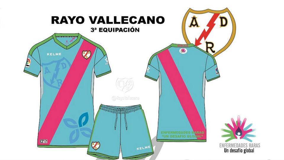 Tercera equipación del Rayo Vallecano