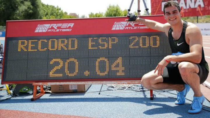 Hortelano bate su récord de España de 200