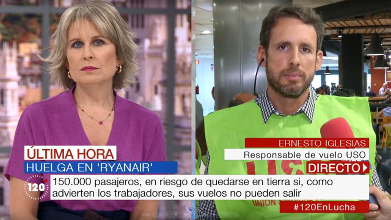 """Ernesto Iglesias, representante sindical de USO: """"Ryanair no solo trata mal a sus empleados, también lo hace con sus pasajeros"""""""
