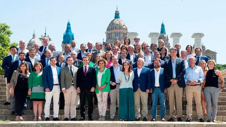 García Egea, secretario general del PP y Dolors Montserrat, portavoz en el Congreso