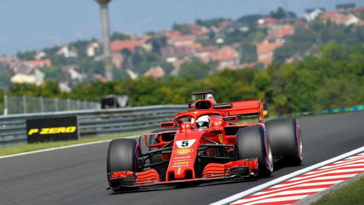 GP Hungría: Vettel manda en los libres con Sainz 8º y Alonso 12º