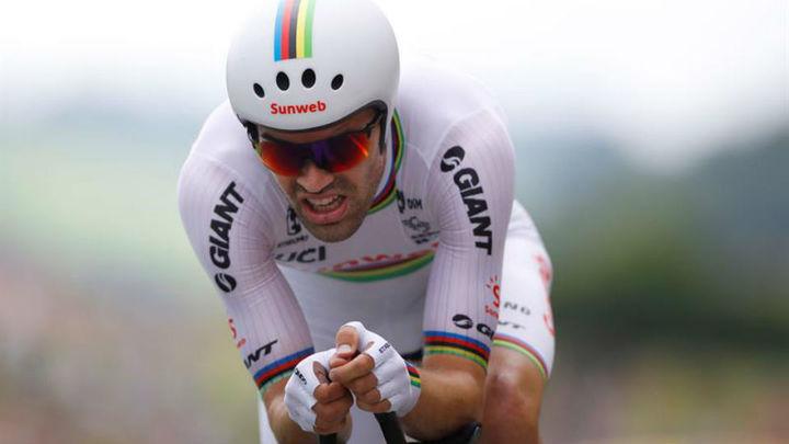 Tour: Dumoulin se impone en la crono, con Thomas virtual ganador