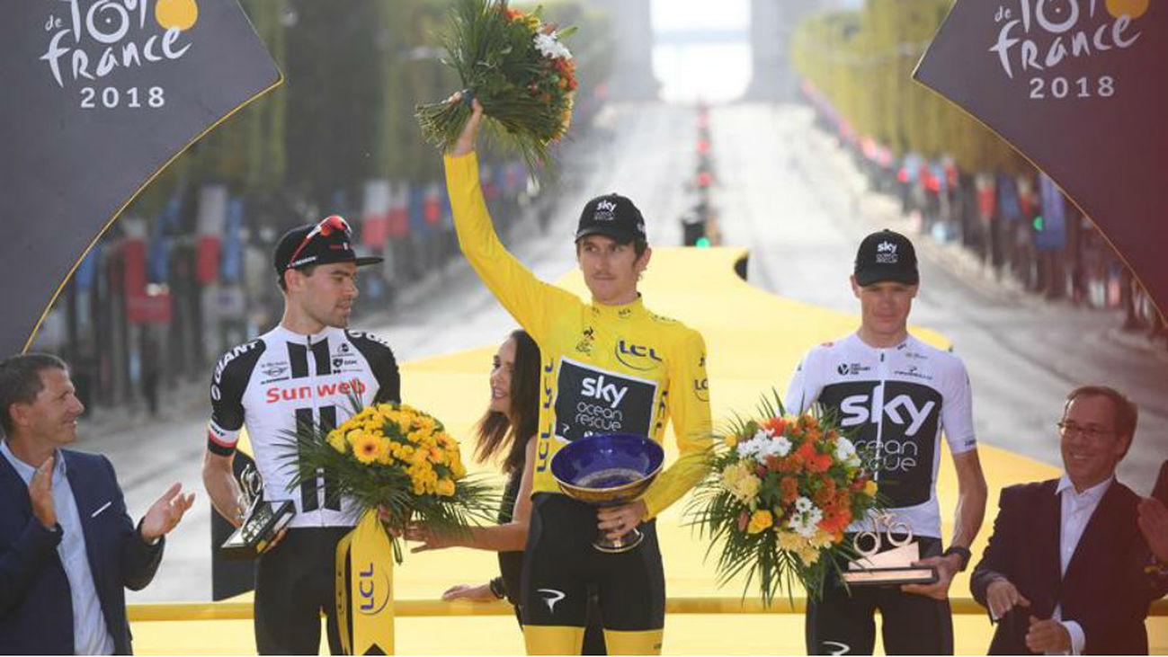 Thomas culmina en París su primer Tour de Francia