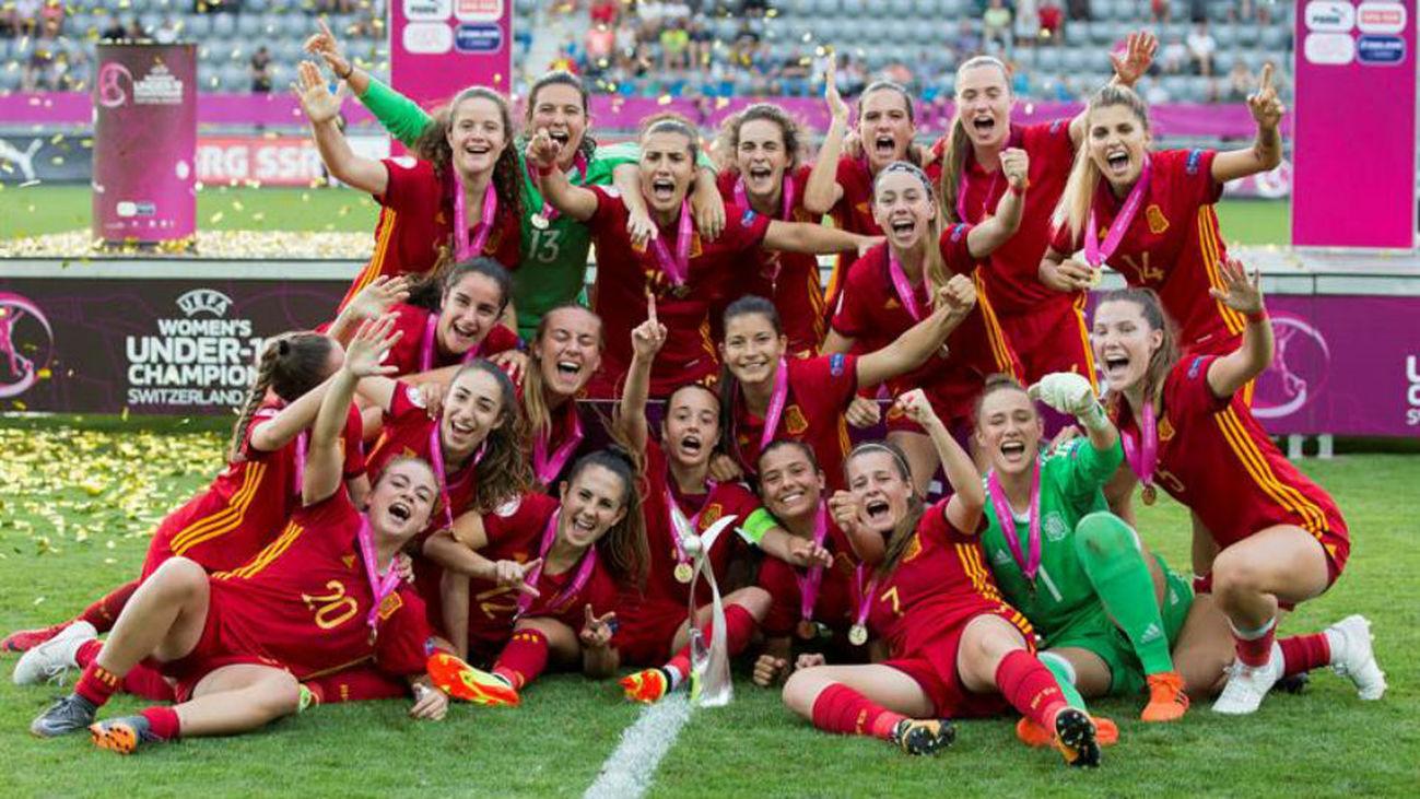 0-1. Campeonas de Europa sub'19