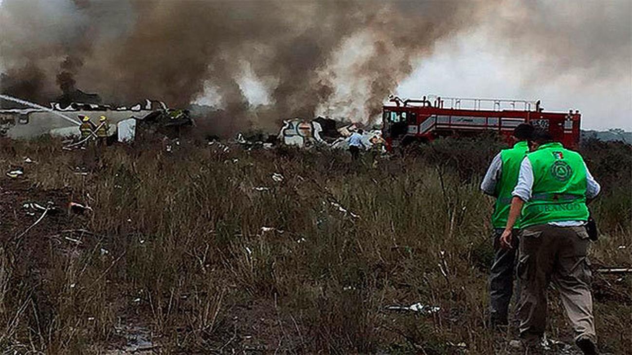 Un avión de Aeroméxico se estrella después de despegar desde Durango, sin dejar víctimas mortales