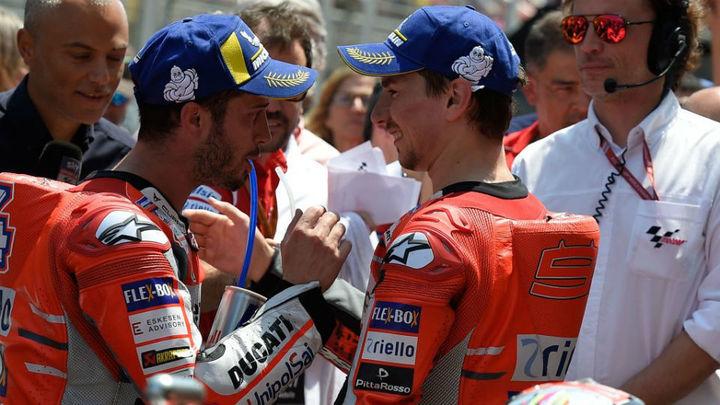 Guerra en Ducati entre Lorenzo y Dovizioso