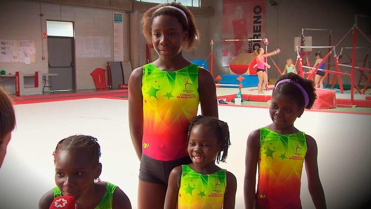 Pozuelo acoge a cuatro pequeñas gimnastas de Chad