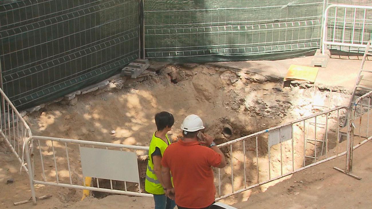 Patrimonio analiza el yacimiento encontrado en la calle Fuencarral