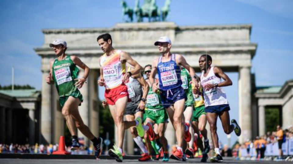 Naert oro en maratón, Guerra repite cuarto, España plata por equipos