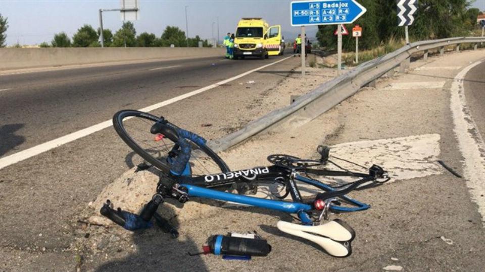 Un ciclista de 61 años, herido grave tras ser atropellado en la M-505