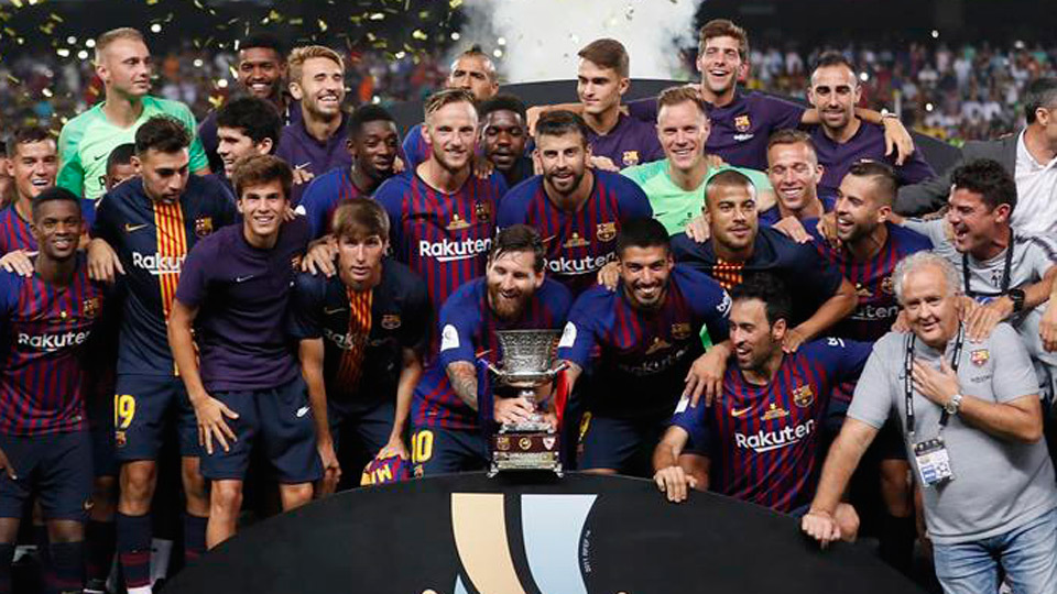 1-2. El Barcelona levanta la Supercopa ante el Sevilla