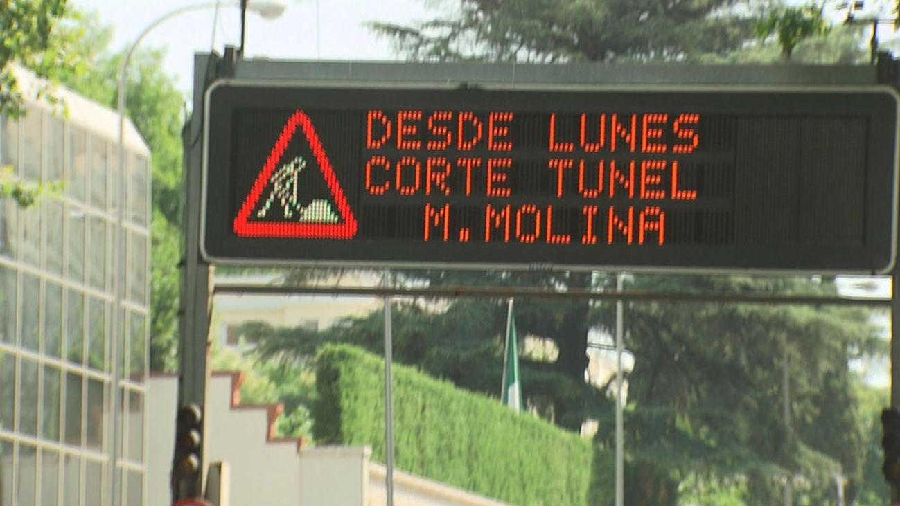 El túnel de María de Molina cierra por obras hasta septiembre