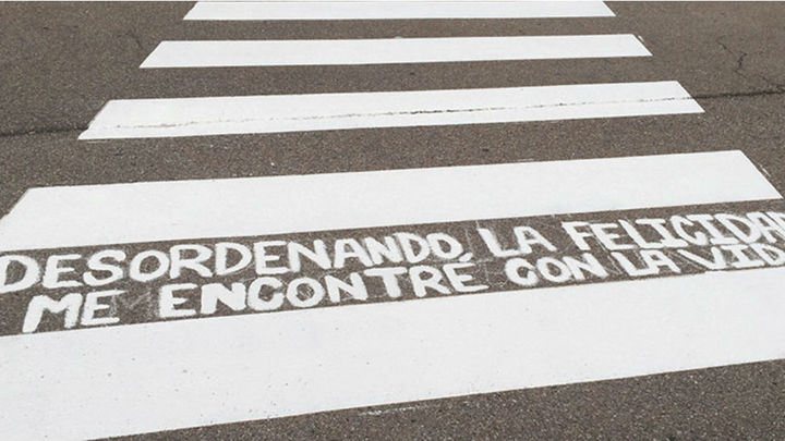 Madrid llena de poesía sus pasos de cebra