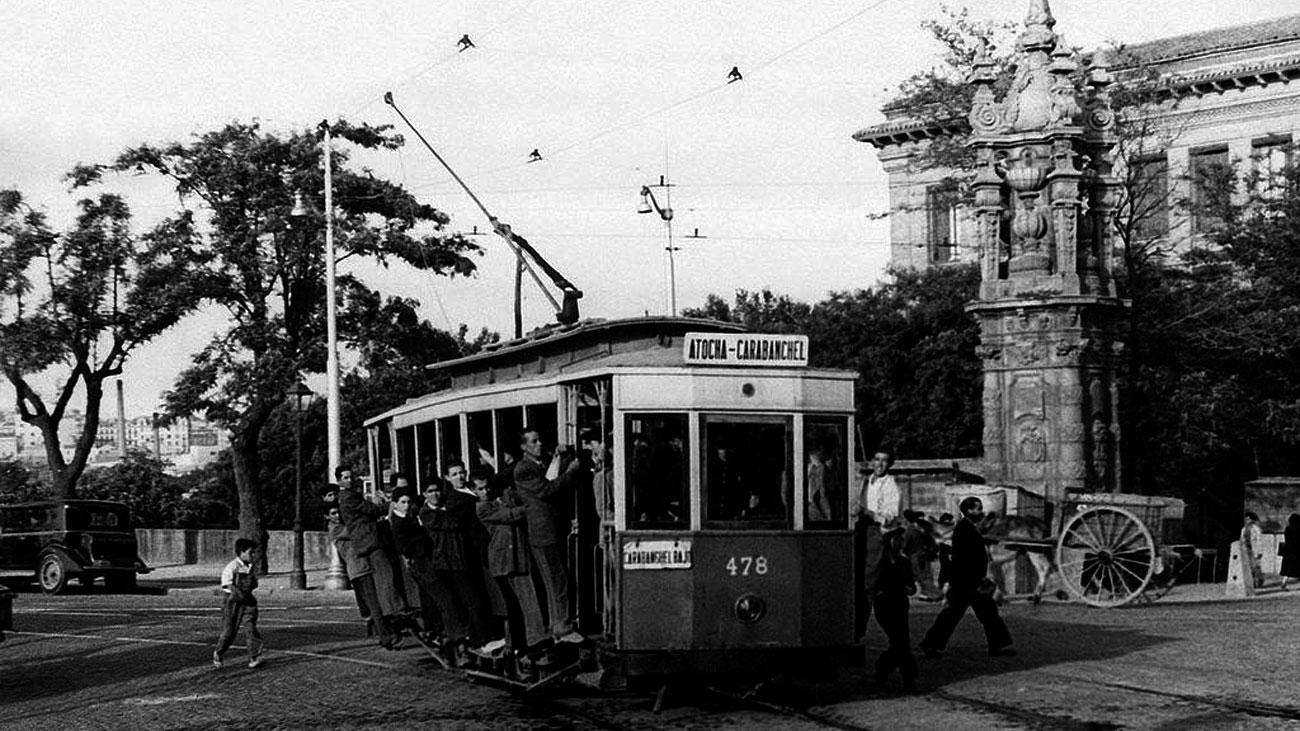 Las huellas del tranvía en las calles de Madrid