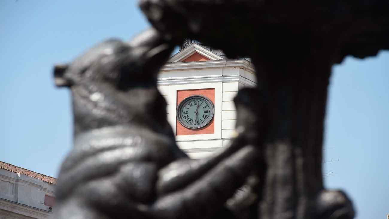 El reloj  de Puerta del Sol