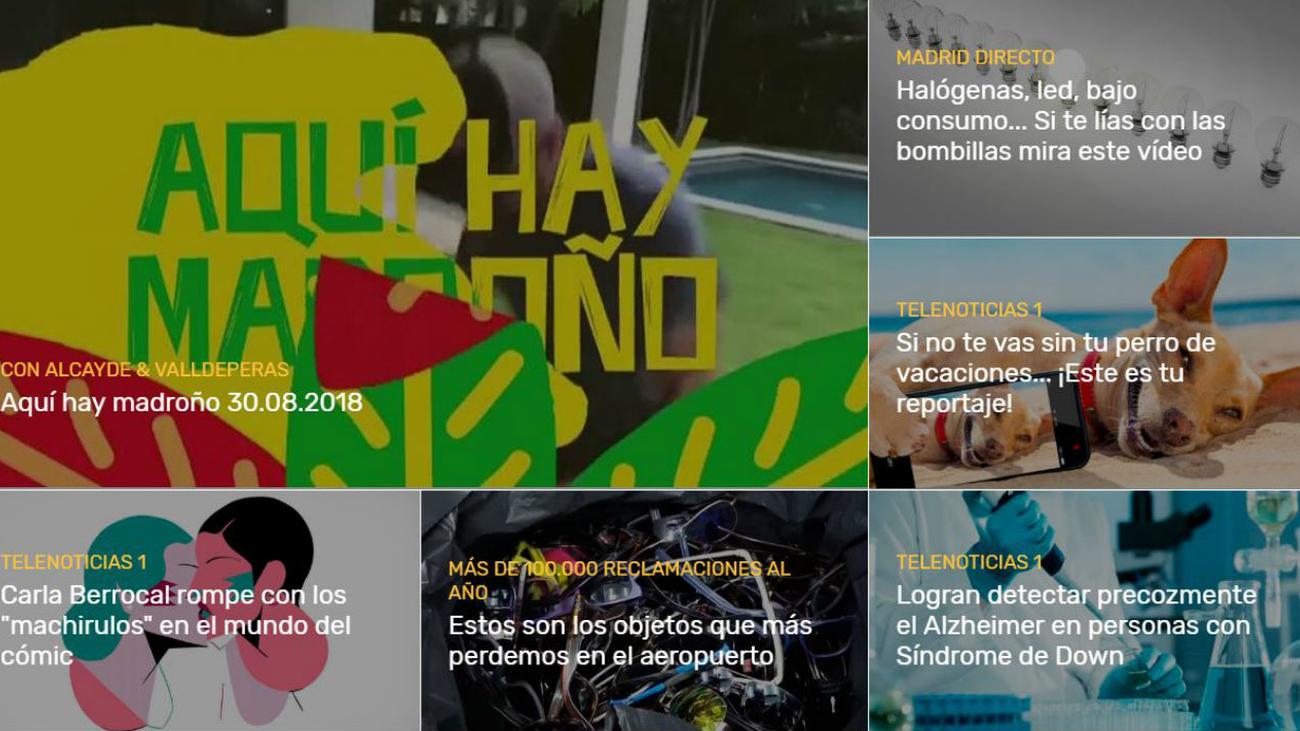 Telemadrid renueva su web con un espectacular diseño, adaptado a todos los dispositivos