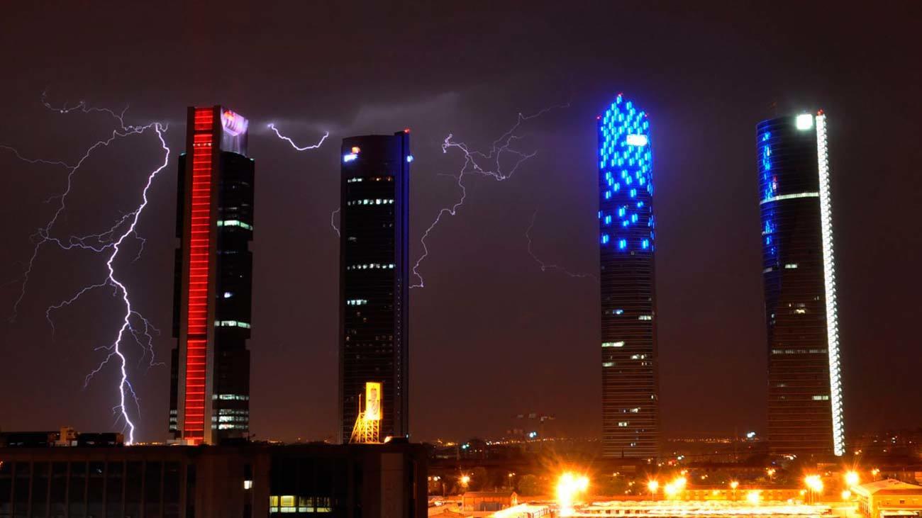 Noche de tormenta en Madrid