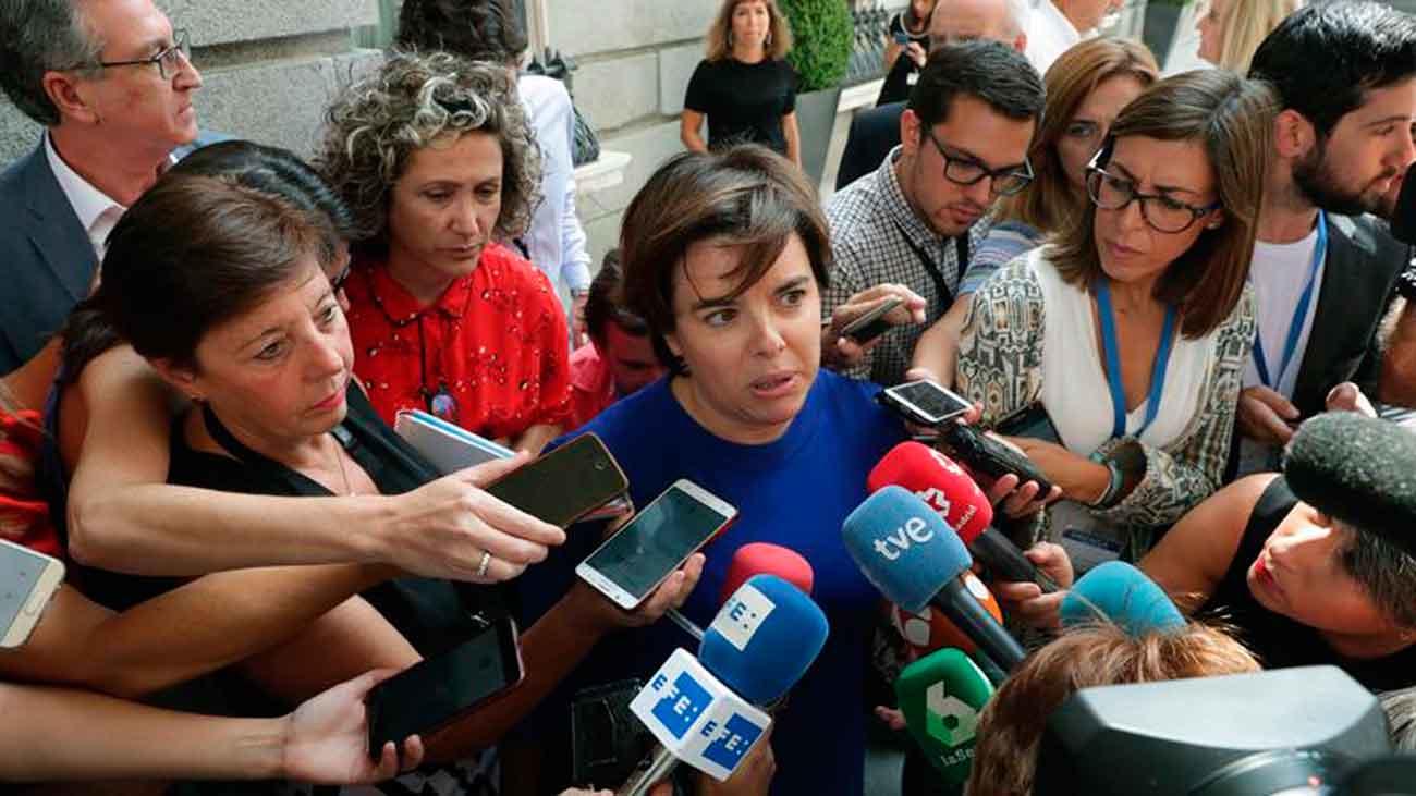 Santamaría ausente de la primera reunión del PP en el Congreso con Casado