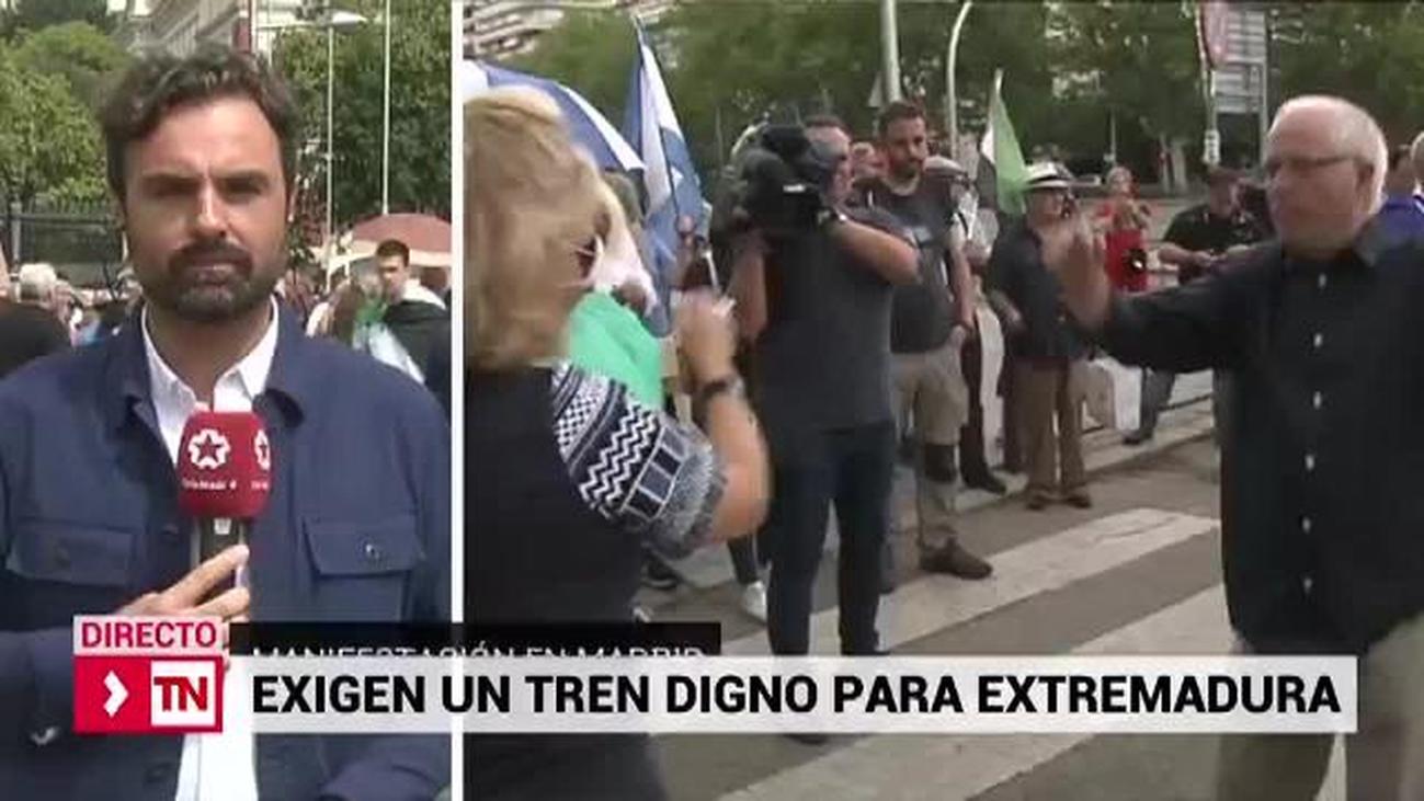 Más de 1.000 personas reclaman en Madrid trenes dignos para Extremadura y Castilla-La Mancha