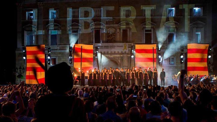 El independentismo mide sus fuerzas en una Diada marcada por los presos