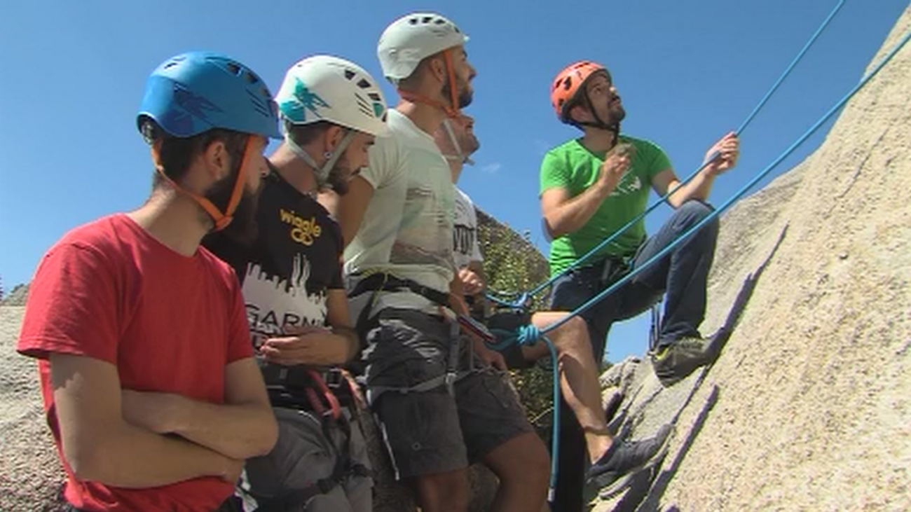 Bautismo de escalada en Torrelodones