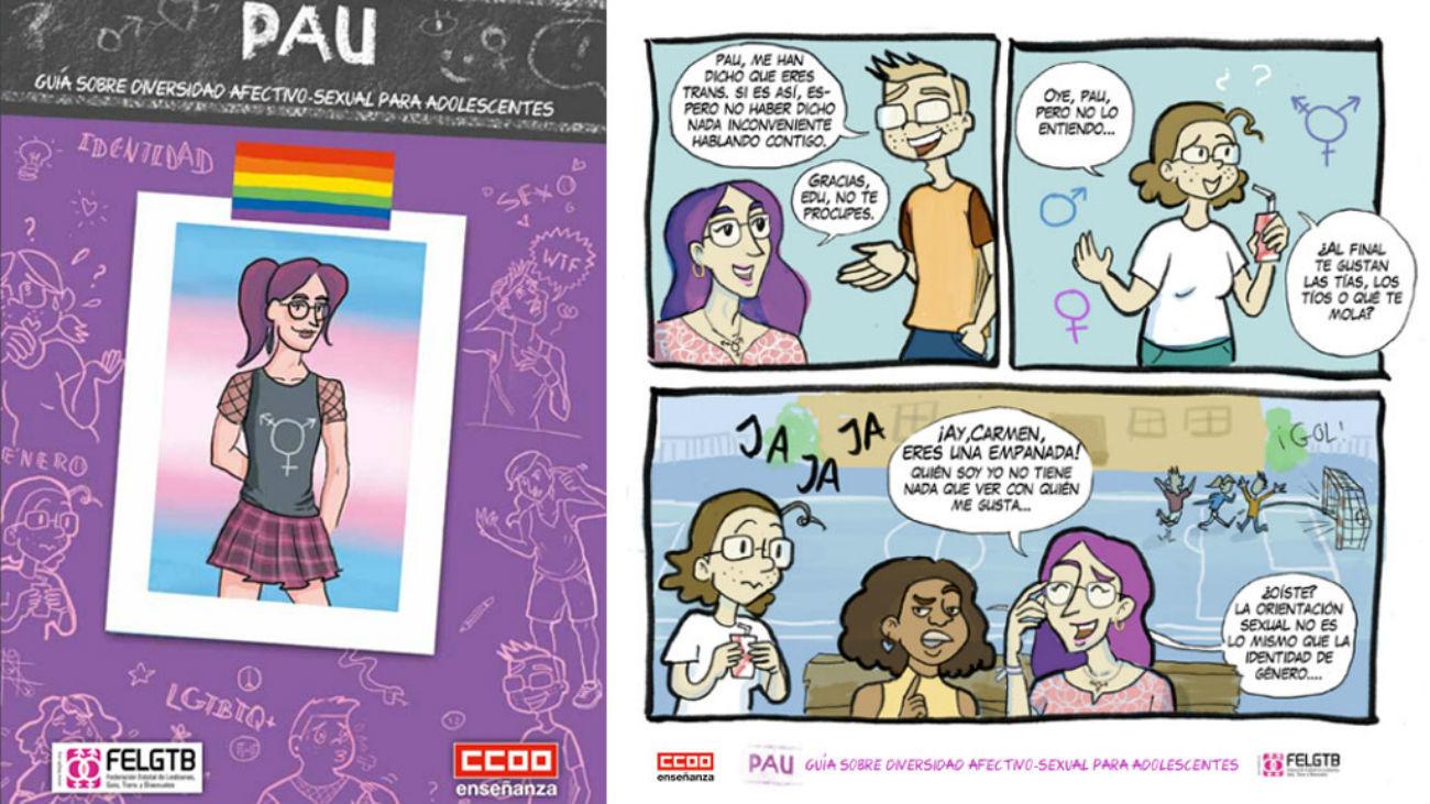 """""""Pau"""", un cómic para prevenir el acoso a los jóvenes LGTB"""