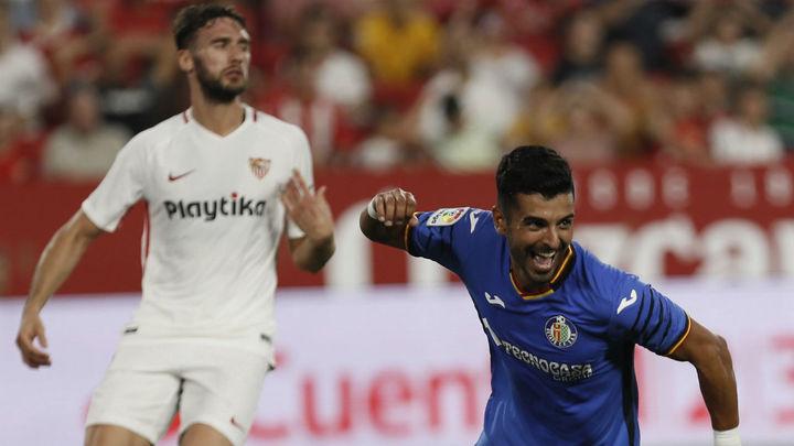 0-2. El Getafe asalta el Sánchez Pizjuán