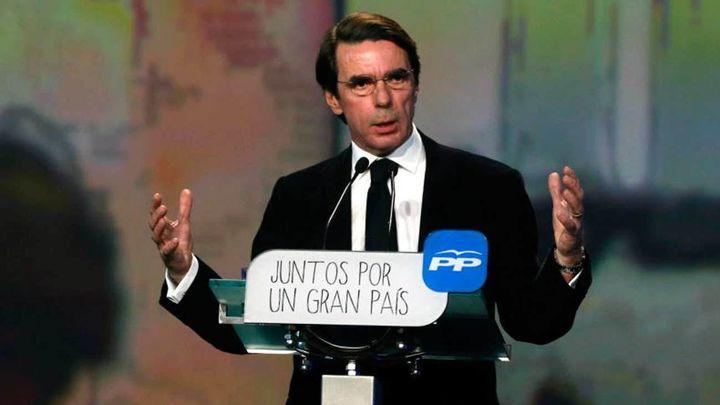 """Aznar urge a """"desarticular"""" el secesionismo catalán con un 155 más severo"""