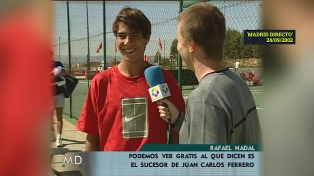 Javier Lázaro entrevista a un jovencísimo Rafa Nadal