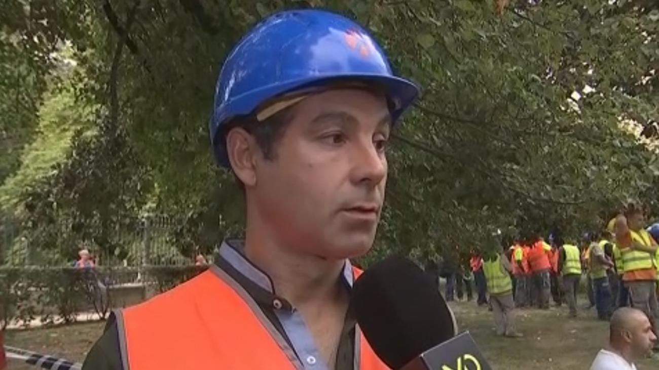 """""""Creo que se ha debido al exceso de carga en la zona"""", un obrero sobre el derrumbe del Ritz"""