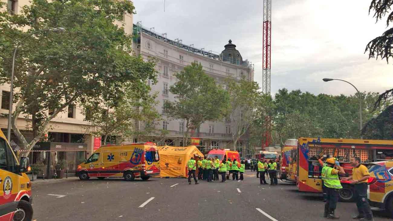 Un muerto y 11 heridos balance final del derrumbe en el hotel Ritz