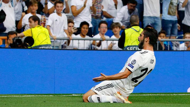 Obra maestra de Isco para adelantar al Real Madrid frente a la Roma