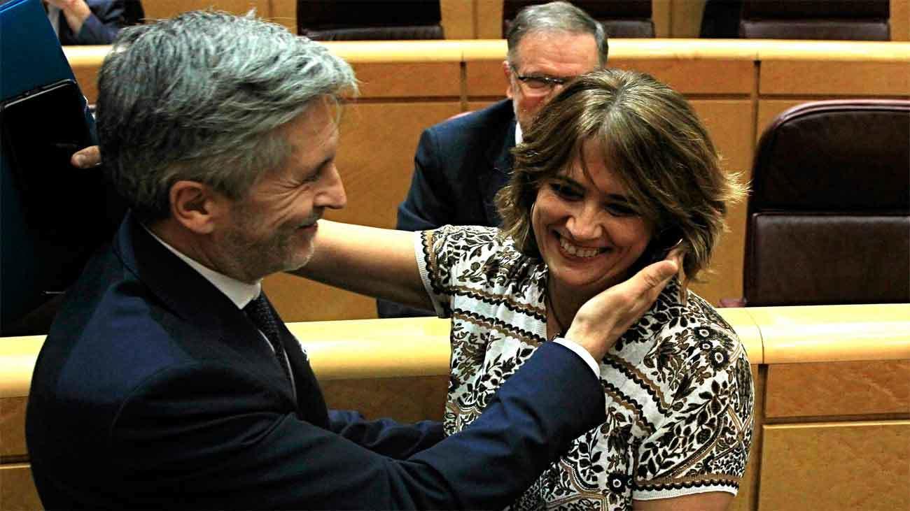 """Delgado reprobada por el Senado,  """"absuelta"""" por Grande-Marlaska"""