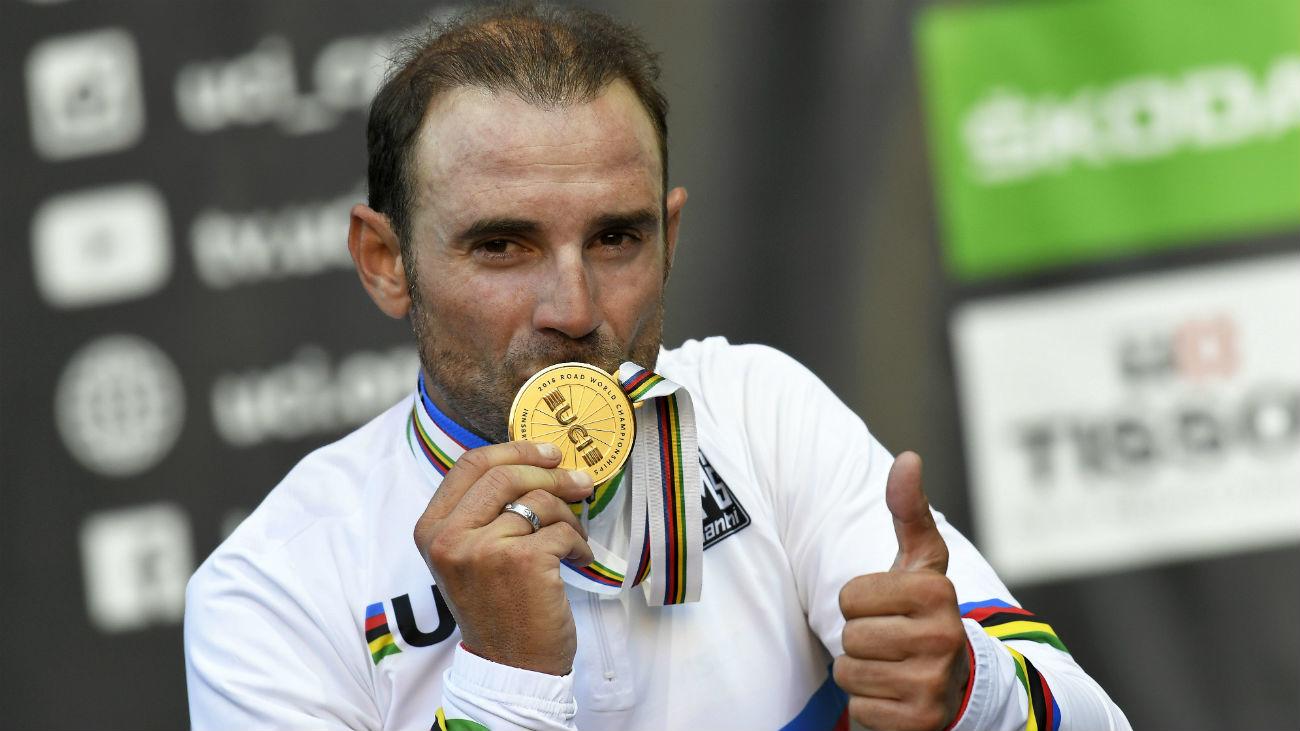 Alejandro Valverde, campeón del mundo