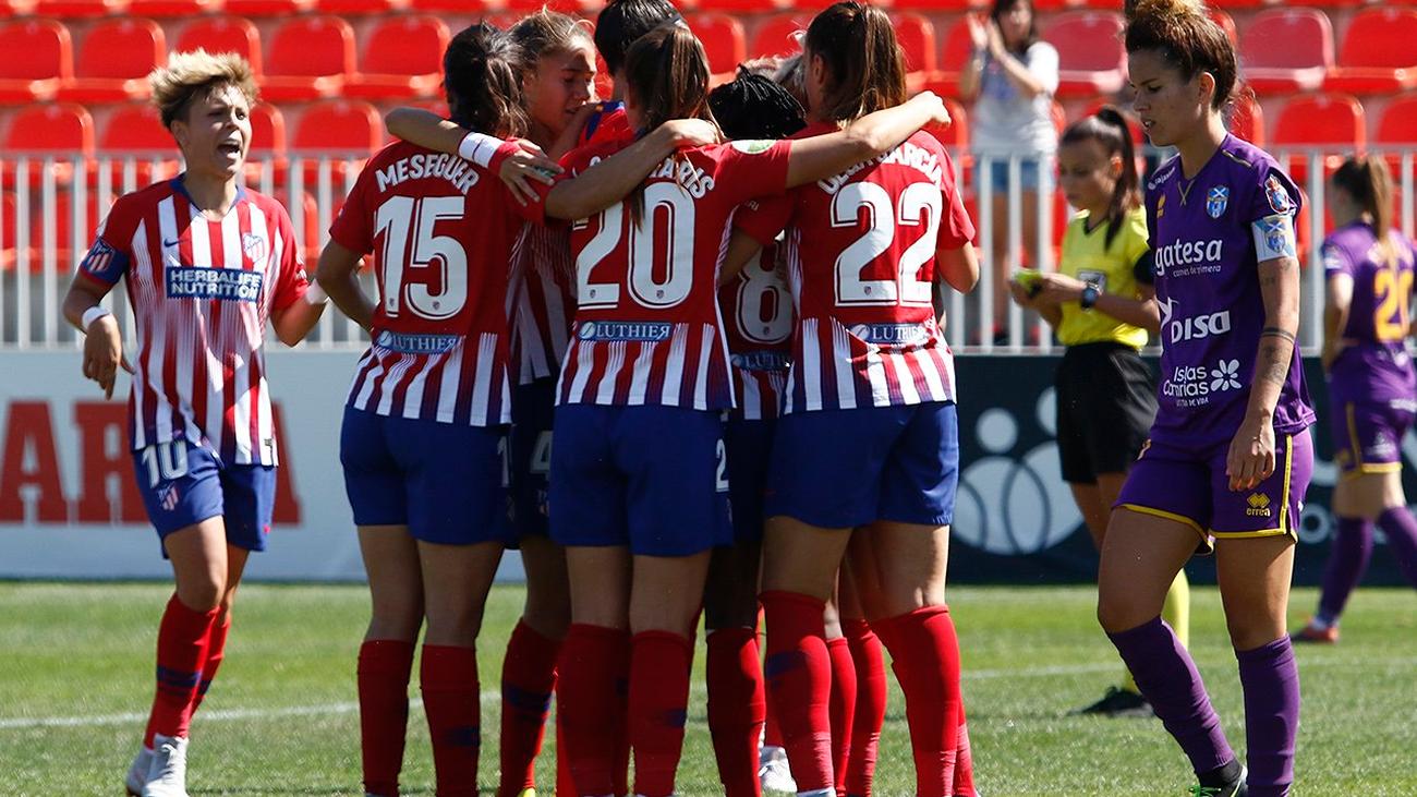 Atlético de Madrid femenino celebrando un gol