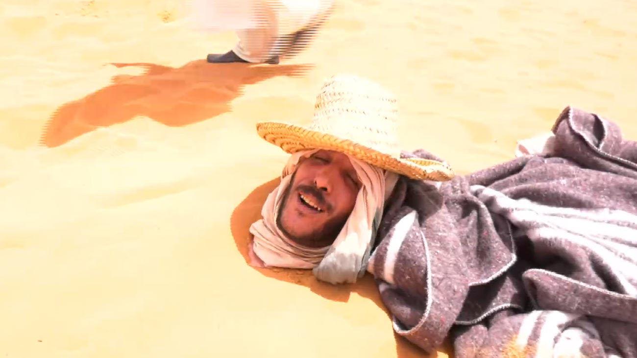 Baños de arena en el desierto de Merzouga