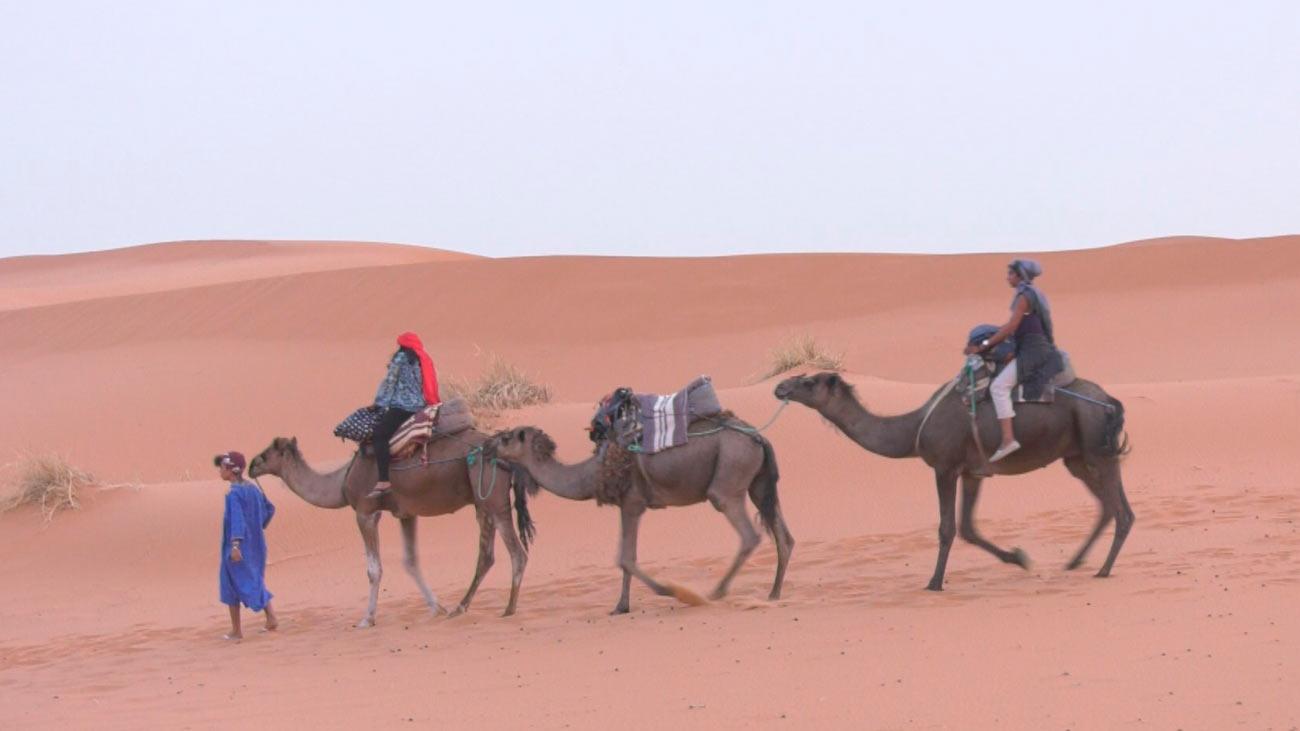 Las dunas del desierto de Erg Chebbi