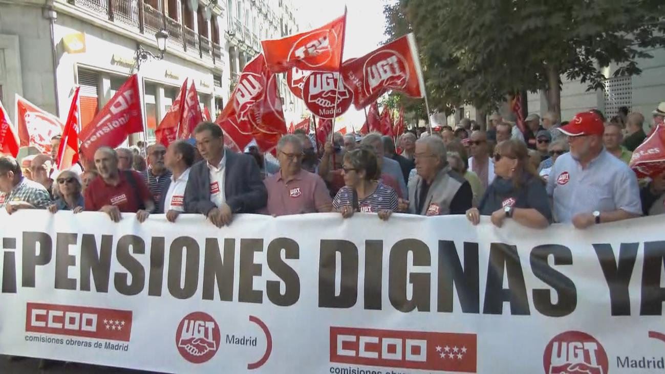 Los pensionistas salen a la calle en 52 ciudades
