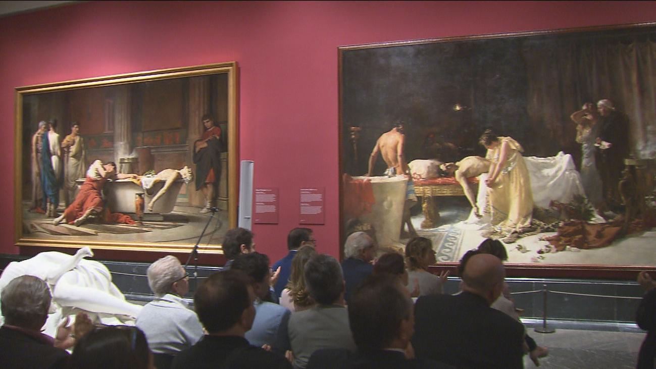 El Museo del Prado restaura 'La muerte de Lucano' de José Garnelo