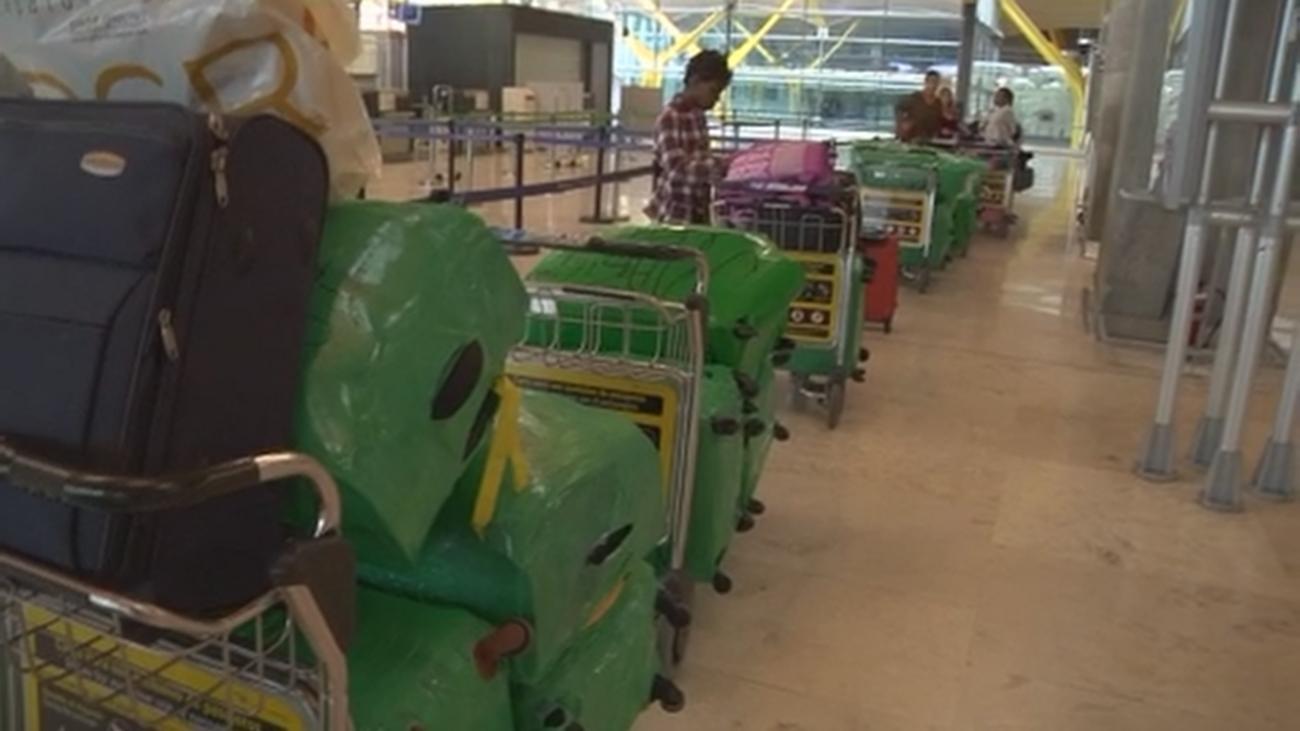 La guerra del embalaje en el Aeropuerto de Barajas
