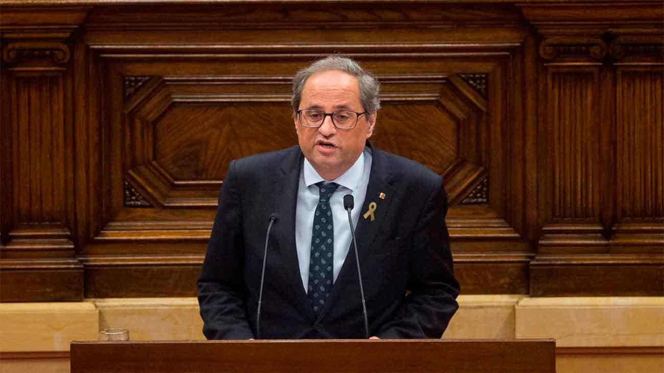 Torra retirará su apoyo a Sánchez si no hay referéndum de autodeterminación antes de un mes