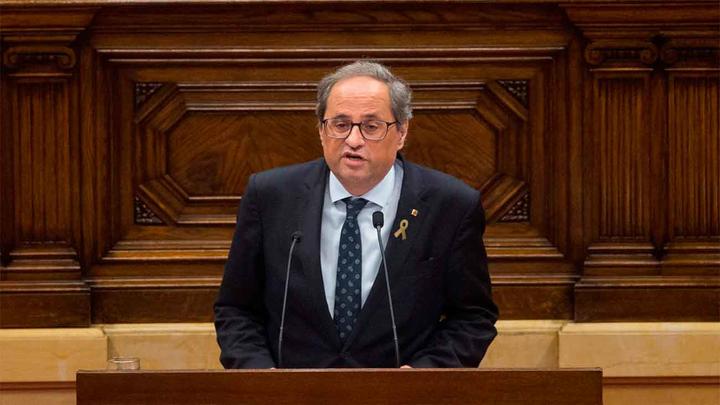 Torra retirará el apoyo a Sánchez en el Congreso si no plantea un referéndum en un mes