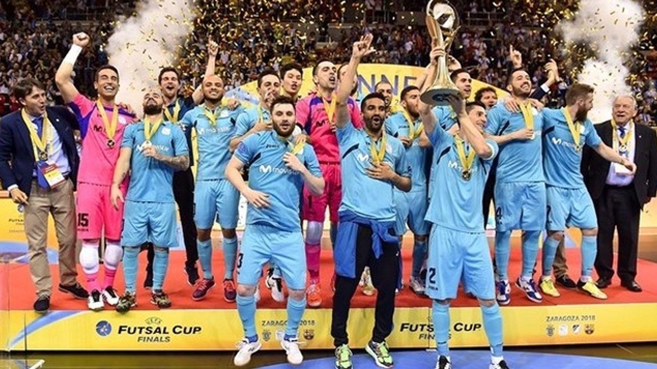 Inter Movistar celebrando el Campeonato de Europa