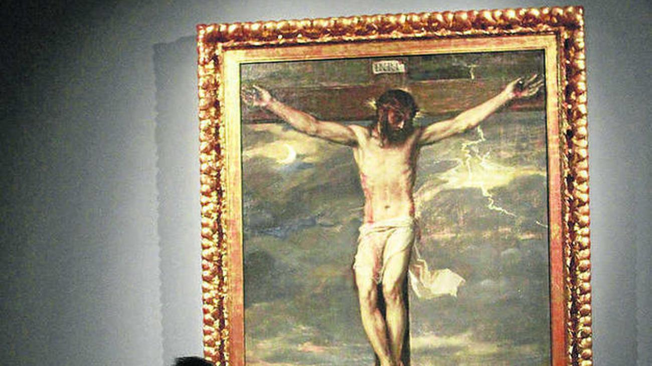 """El """"Cristo Crucificado"""" de Tiziano en el Escorial se desgarra al caerse de la pared"""