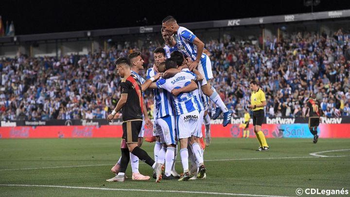 El Leganés  gana al Rayo (1-0)  y el Alcorcón empata ante Las Palmas (0-0)