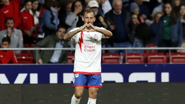 Gol de Aitor García al Sporting de Gijón